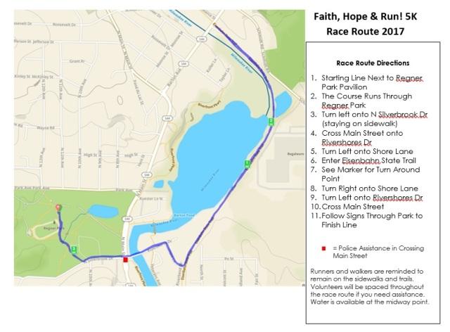 Faith, Hope & Run! Map 2017